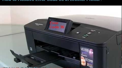 Error Code 36 in Brother Printer