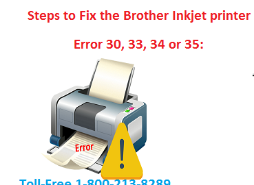 Steps to troubleshoot the Brother Inkjet printer error 30, 33, 34 or 35