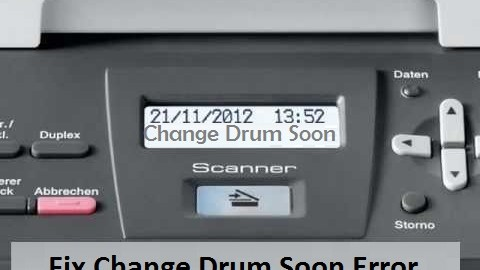 TroubleshootChange Drum Soon Error