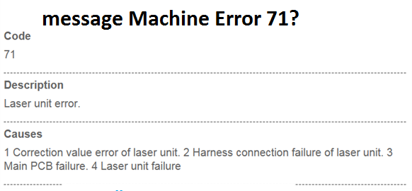 Resolve Brother Printer error message Machine Error 71