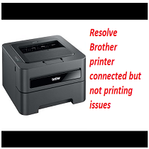 brother printer connected but not printing issue