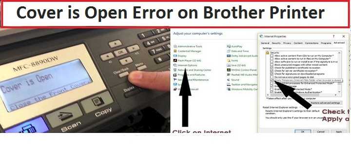Brother Printer Cover is Open Error